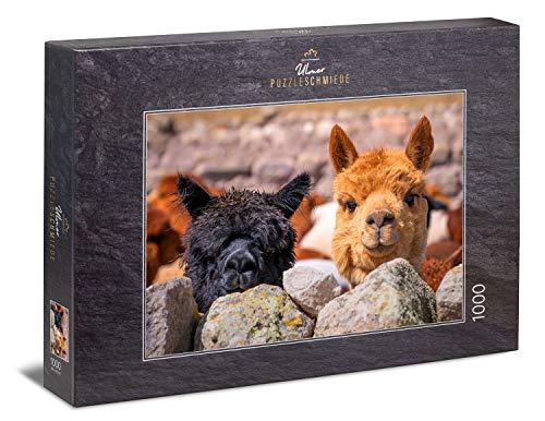 Ulmer Puzzleschmiede - Puzzle 'Alpaca' - Motivo puzzle dal Sud America con alpaca che vivono liberi nelle Ande