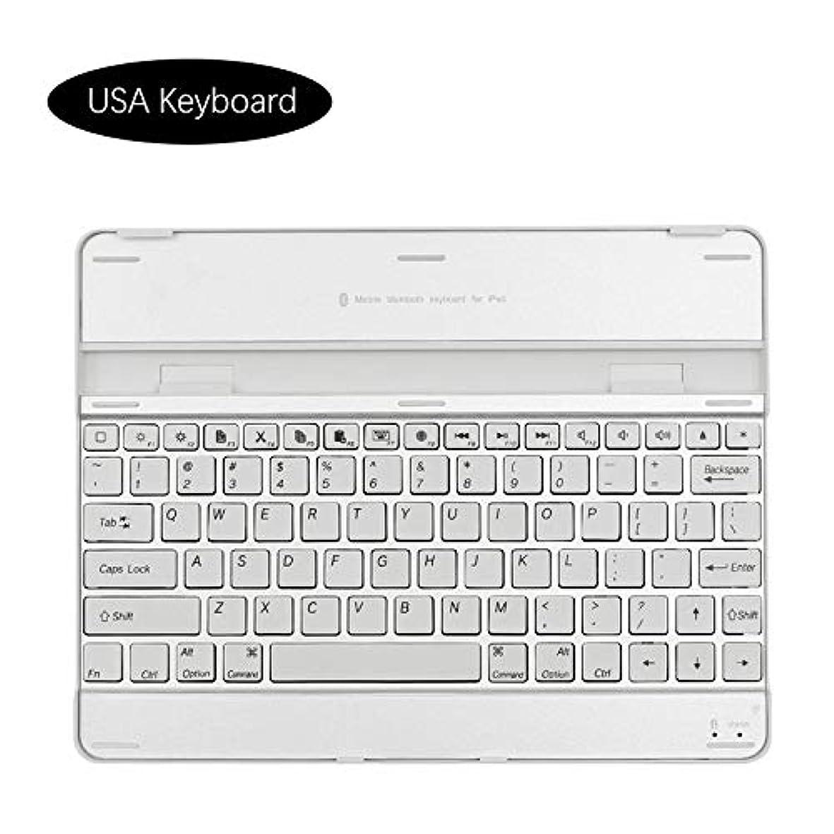 ようこそワーカー咲くiPad 2 3 4 Aluminium Alloy USA Keyboard シェル, Phoebe 最大 耐久性のある ハイブリッド スリム 360° 保護 衝撃 吸収 フル ボディー 耐衝撃性 Durable シェル の iPad 2 3 4 Aluminium Alloy USA Keyboard