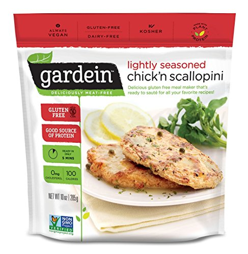 Gardein Chick'n Scallopini, Meatless Protein Packed Filets, 10 Ounce (Frozen)