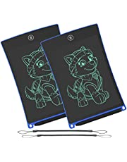 WOBEECO LCD Writing Tablet, 8.5 Inch Electronic Writing &Drawing Board Doodle Board with Lanyard for Kids and Adults at Home,School and Office