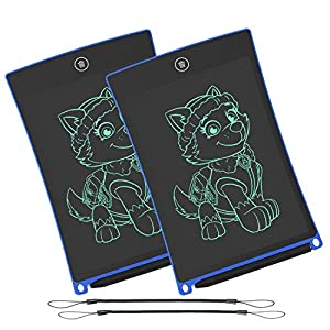 WOBEECO LCD Writing Tablet, 8.5 Inch Electronic Writing &Drawing Board Doodle Board with Lanyard for Kids and Adults at…