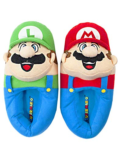 vanilla underground Nintendo Super Mario Bros Mario and Luigi Men's Novelty 3D Slippers