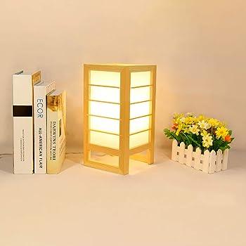 億騰 和風 テーブルランプ テーブルランプ ベッドサイドランプ ベッドサイドライト 屋内照明 ルームランプ 卓上スタンド 授乳灯 装飾 LED光源 白色光/暖かい光 (暖かい光)