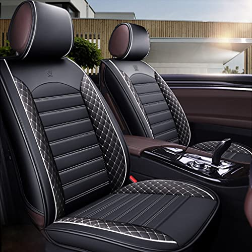 Coprisedili in pelle Coprisedili universali in pelle Coprisedili per auto 5 posti Set in pelle Adatto per Audi A1 A3 A4 A5 A6 A7 A8 Q1 Q2 Q3 Q5 Q7 Q8-white