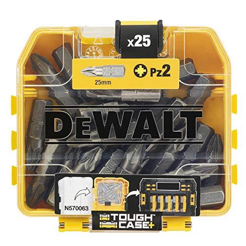 DeWalt DT71521-QZ Coffret d'Accessoires TOUGHCASE - Embouts de Vissage - PZ2 25mm x25 - Pour Perceuse-Visseuse