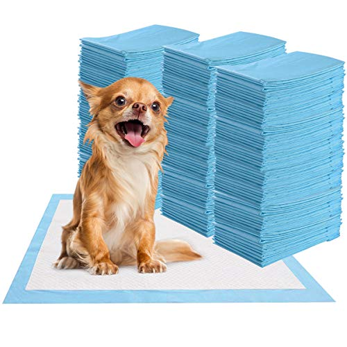 Giantex Puppy Pet Pads Dog Cat Wee Pee Piddle Pad, Powerful Absorption, 5-Layer Design, Comfortable Pet Training and Puppy Pads (300 Count, 24'' x 17'')