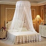 TININNA Mosquitera redonda para cama colgante con mariposa luminosa, para dormitorio de princesas niñas, decoración de mosquitos, mosquiteras grandes