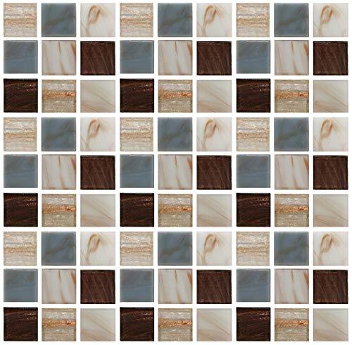 GLOBALDREAM Pegatinas de Baldosas, 20cm x 20cm Azulejos Adhesivos Pegatinas Mosaico Cenefa Adhesiva Cocina Pegatinas de Baldosas de Azulejos para Baño y Cocina, 18 piezas-01