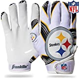 Franklin Sports Pittsburgh Steelers Youth NFL Football Receiver Gloves -...