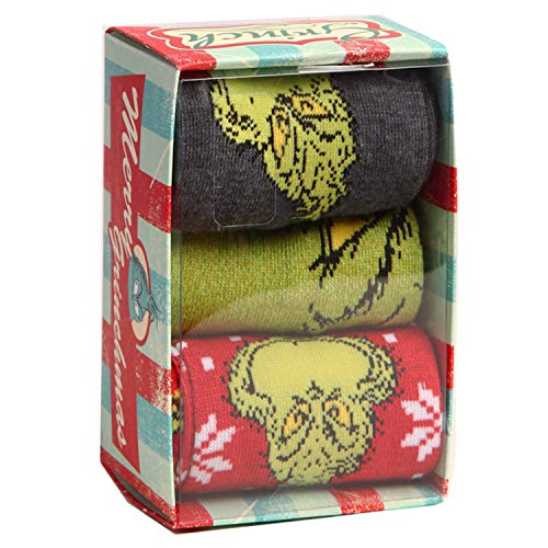 How The Grinch Stole Christmas Socks 3-Pack Box