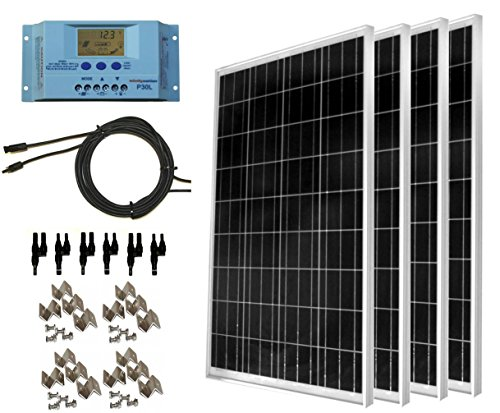 WindyNation 400 Watt Solar Kit: Four pcs 100 Watt...
