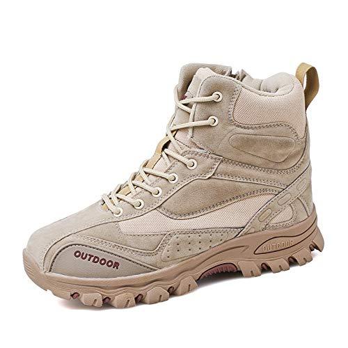 Scarpe da Trail Running da Uomo Scarpe da Corsa da Uomo Scarpe da Sci di Fondo da Uomo Scarpe da Passeggio per Esterno Antiscivolo per Il Fitness Color Crema 45