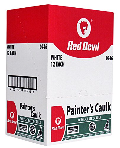 Red Devil Painters Caulk White, 10.1 Oz., Case of 12