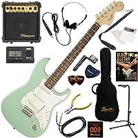 Squier エレキギター 初心者 入門 ジャンルを選ばないクラシカルなストラトスペックを継承。 10wアンプが入ったスタンダード15点セット Affinity Stratocaster/SFG(サーフグリーン)
