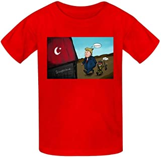 Claude-Carroll The deceived Syria Rojava Youth/Kid's Cotton T-Shirts Fashion Graphic Print Tee