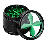 Premium Aluminium Herb Grinder, 2.5'' Large 4-Part Spice Herb Grinder with Pollen Screen,Green