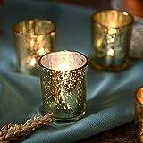 NEWLIGHTRUE - Juego de 48 portavelas de cristal dorado votivo para regalo o decoración de mesa para cumpleaños, Pascua, boda, Día de la Madre (dorado)