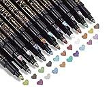DealKits Premium Metallic Marker, 20 colores Metallic Stift Pen para Kartenherstellung DIY Fotoalbum Gästebuch bodas...