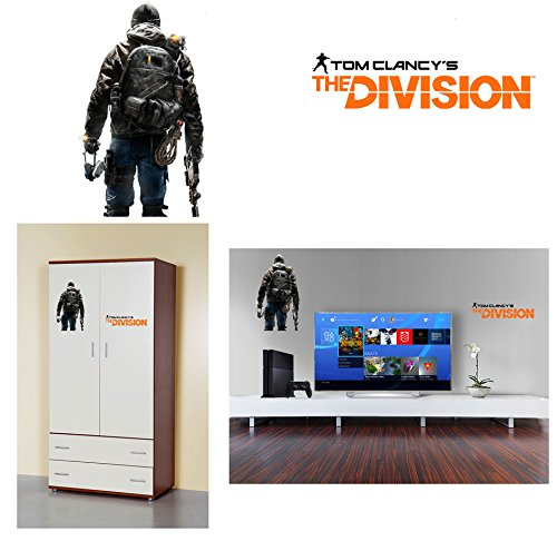 GamesMonkey Adhesivo Tom Clancy 's The Division B para Armario o Pared Qualita HD tamaños 60 cm x 60 cm con Recorte