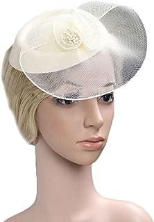 Bobury Sombrero de Nylon de la Dama de Honor de la Novia de la Flor del Tocado del Clip de Pelo para la Fiesta del Banquete