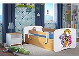 Kocot Kids Kinderbett Jugendbett 70x140 80x160 80x180 Buche mit Rausfallschutz Matratze Schublade und Lattenrost Kinderbetten für Mädchen und Junge Zoo 160 cm