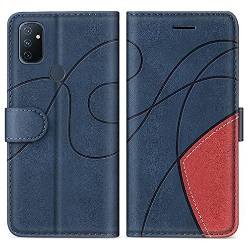 SUMIXON Cover per OnePlus Nord N100 5G, Custodia in PU Pelle per OnePlus Nord N100 5G, Portafoglio Cover a Libro con Chiusura Magnetica e Slot per Carte, Blu