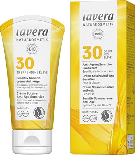 Lavera Crème Solaire Anti-Âge Sensitive SPF30 • Soins Solaires • Crème Solaire • Anti-Âge • SPF 30 • Cosmétiques Naturels • vegan • certifié • 50ml 110614