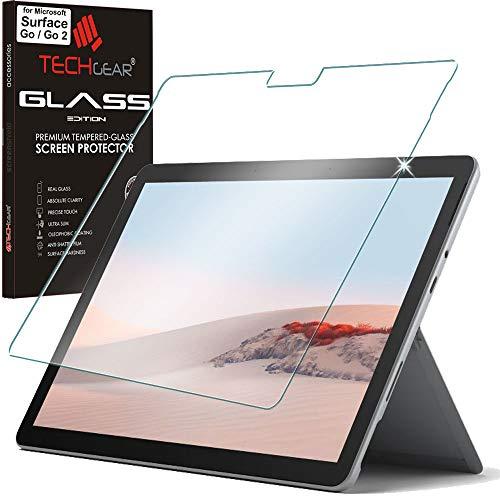 TECHGEAR GLASS Edition skärmskydd passar Microsoft Surface Go 2, äkta härdat glas skärmskydd [9H hårdhet] [HD klarhet] [Repbeständig] [Ingen bubbla]