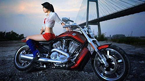 Classic Puzzle Adult Challenge Impossible Puzzle De 1000 Piezas Harley Davidson  Juego Educativo para Niños De Juguete 50X75Cm