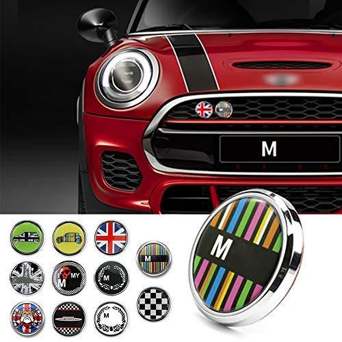 Qidian 3D coche parachoques delantero parrilla emblema insignia pegatina para Mini Cooper S ONE JCW R50 55 R56 F54 F55 F60 R60 R61 Countryman Car Styling Accessories (gato rojo)