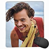 Harry-Styles Mat Overlocking Thickening Design Comfortable Feel Mouse Pad (11.8 in × 9.8 in)