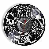 Nfjrrm Dardos Reloj de Pared Juego Disco de Vinilo decoración de...