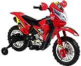 Mondial Toys MOTO ELETTRICA PER BAMBINI ENDURO SUPER CROSS 6V COLORE ROSSO