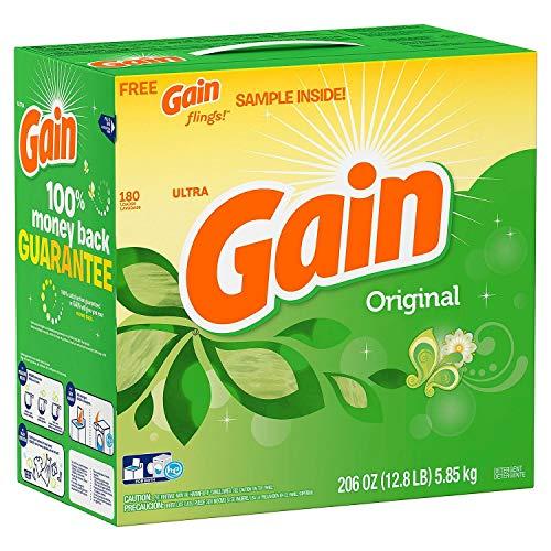Gain Ultra Powder Laundry Detergent - Original - 206 oz. - 180 loads - (Original from manufacturer - Bulk Discount available)