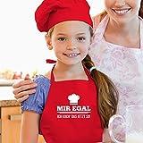 Shirtracer Kinderschürze mit Motiv - Mir egal ich koch das jetzt so Kochhut - 60 cm x 50 cm (H x B) - Rot - schürzen männer - X978 - Kochschürze und Schürze für Kinder - 3