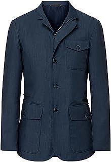Men's Hackett London Mayfair Journey 3 x Layer Blazer in Indigo (L) (L)