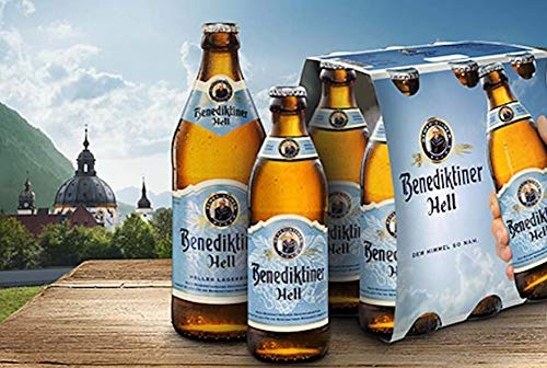 Benediktiner Hell Weissbier Bier (24 x 0,33l) Flaschen inkl. Pfand Beer Cerveza 5.0 Vol