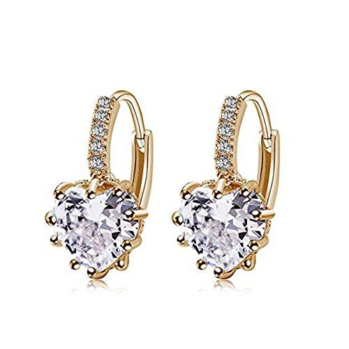 1 par Pendientes Mujer Aretes Elegante Pendientes Borla Colgante Pendientes Accesorios de Joyería Mujeres,diamante en forma de corazón pendientes niña