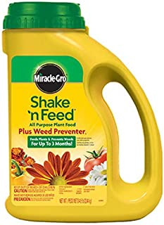 Miracle-Gro Shake 'N Feed All Purpose Plant Food Plus Weed Preventer1, 4.5 lb.