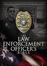 HCSB Law Enforcement Officer's Bible, Black LeatherTouch