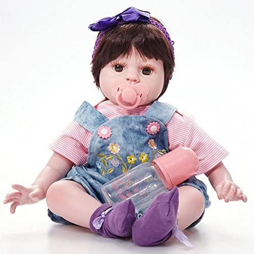 SHTWAD Reborn Baby Puppe Sch  Lebensechte 5cm Augen Offen Jungen Und mädchen Spielen Haus Begleiten Spielzeug