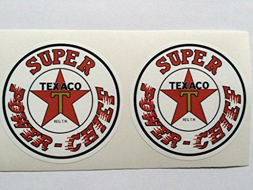 2 Texaco Super Power - Chief Die Cut Decals