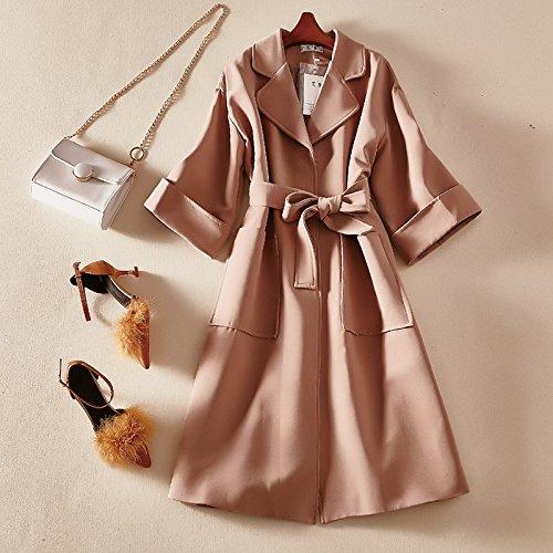 KYH Chaqueta Cortavientos Jersey Casaca Suéter De Lana Coat Coat,F,Lotus Root Almidón