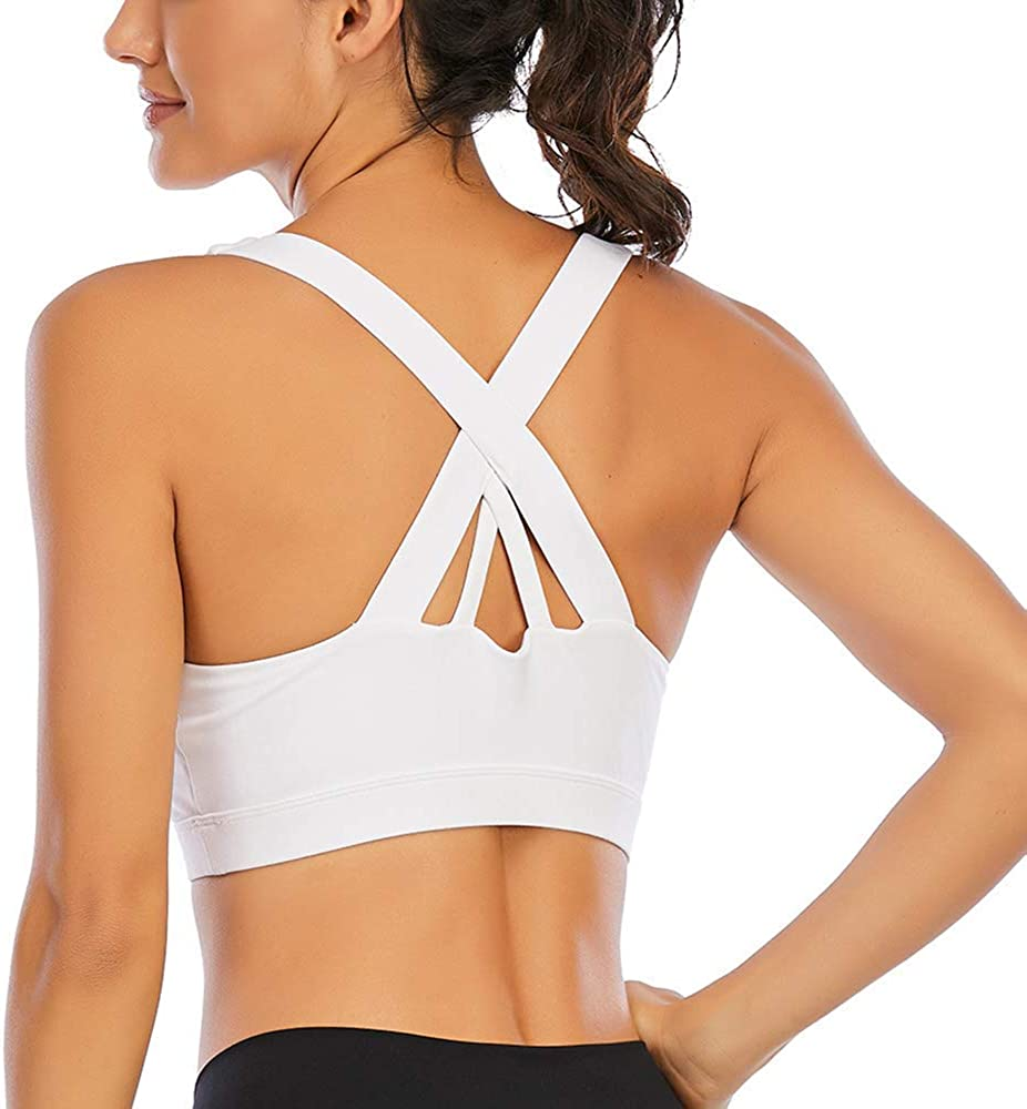 Sports A surprise price is realized Bra for Women sale Medium Impact Back Padded Strap Criss Cross