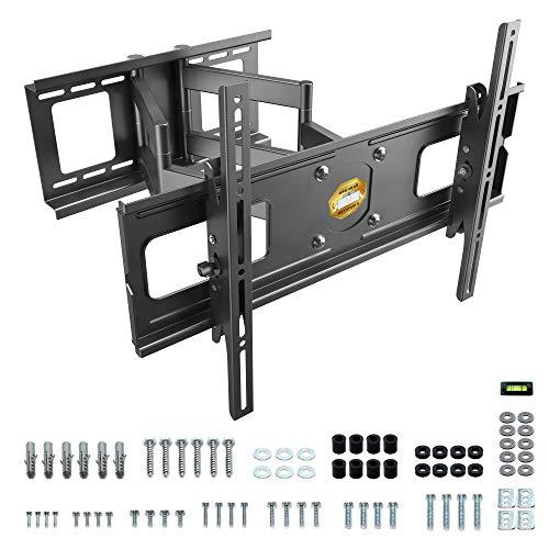 RICOO R06, Belastbare TV Wandhalterung Schwenkbar Neigbar, Universal 40-75 Zoll Curved-Bildschirm Fernseher-Halterung, max. 95Kg & VESA 600x400