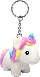 Squeeze and Poop Glittered Poop Mini Unicorn Toy Figure Keychain - 1 Randomly Selected