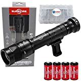 SureFire Infrared Scoutlight Pro Tactical Light M640V Black Bundle with 4 Extra CR123A Batteries and a Lightjunction Battery Box