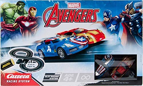 Marvel Avengers Carrera Slot Car Racing System Figure-8 Kart Track