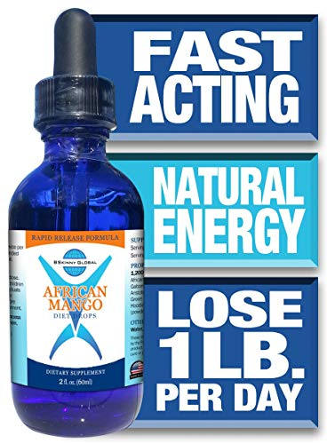 BSkinny Global African Mango Weight Loss Drops - Now with Apple Cider Vinegar - 2 Ounces