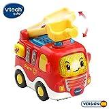 VTech- Piero camión de Bomberos TutTut Bólidos Vehículo interactivo con luz, voz, música y efectos de sonido, incluye botón sorpresa, Multicolor (80-514022) , color/modelo surtido